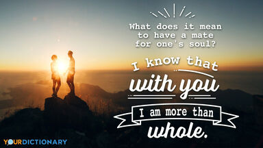 Love Quote Couple Sunset