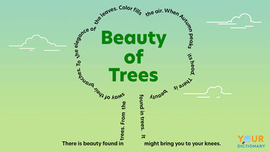 concrete poem beauty of trees