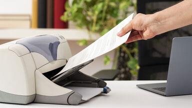 letter in printer