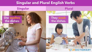 Washing Up as Singular and Plural Verbs