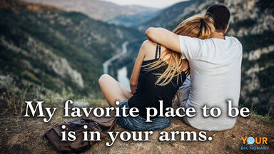 love quote favorite place in your arms