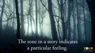 tone in story gloomy dark forest trees