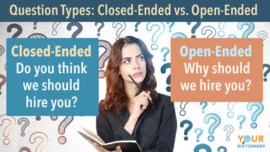 Woman Example of Open Ended and Closed Ended Questions