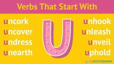 Verbs That Start With U