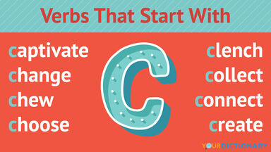 Verbs That Start With C