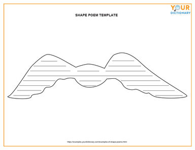 printable template shape poem
