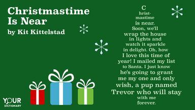 christmastime is near shape poem