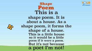 house shape poem