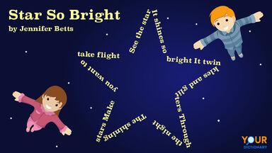 star so bright shape poem