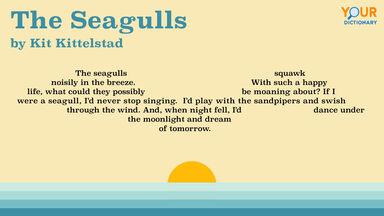 the seagulls shape poem