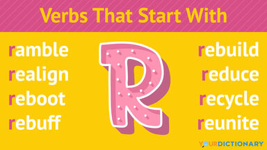 Verbs That Start With R