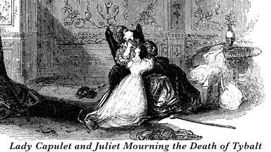 Lady Capulet and Juliet mourn Tybalt