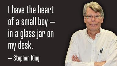Stephen King quote example paraprosdokian joke