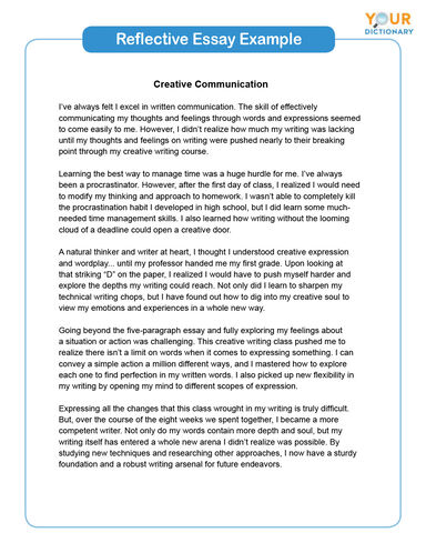 Popular college reflective essay examples custom mba essay editing for hire usa