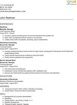 Resume Writing Examples With Simple Effective Tips