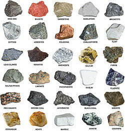 Rock chart as sedimentary rock examples