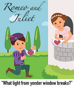 Romeo and Juliet as syntax in literature examples