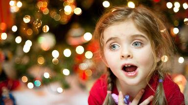 music on Christmas morning with girl singing