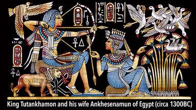 Example of monarchy King Tutankhamon of Egypt