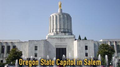 Oregon State Capitol building in Salem 2012