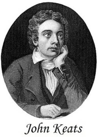 Drawing of John Keats as what are different types of poems example