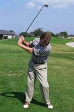 Photo showing a bad forward sway, a reverse pivot