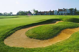 18th hole Muirfield with Club house behind
