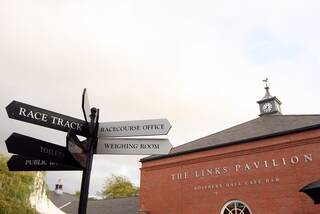 A view of the Link's Pavilion at Musselburgh