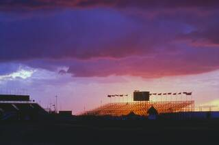 twilight view of the stands at Royal St George's