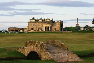The Swilcan Bridge on the 18th hole of St Andrews