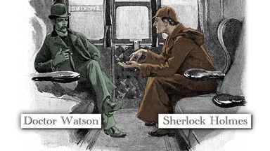 flat character Doctor Watson from Sherlock Holmes