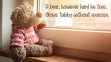 teddy bear end rhyme poem
