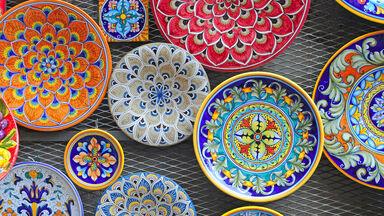 Italian folk art pottery bowls