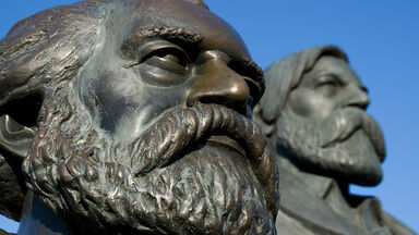 Marx and Engels' monument in Berlin