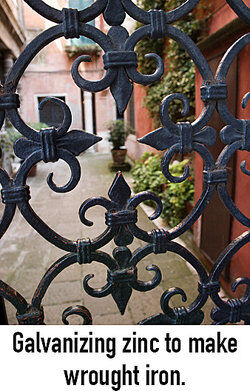 Wrought iron fence as Zinc examples