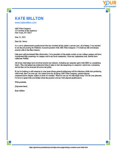 creative cover letter editable printable template