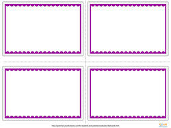 purple and white flashcards