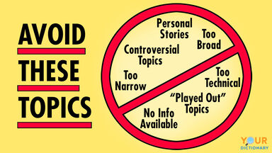 What Topics Should You Avoid In Writing A Research Paper