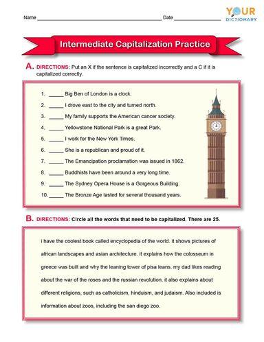 intermediate capitalization practice
