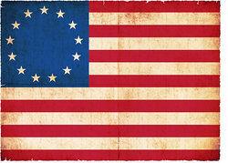 The legendary Betsy Ross flag