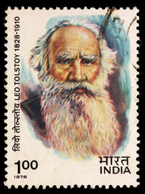 Leo Tolstoy commemorative postage stamp