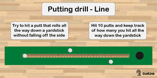 line putting drill at home