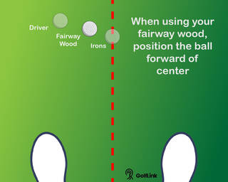ball position for driver, fairway woods and irons