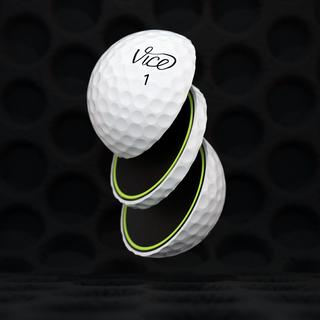 Sliced VICE Pro Plus golf ball