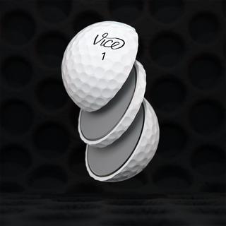 Sliced VICE Pro Soft golf ball