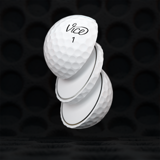 Sliced VICE Pro golf ball
