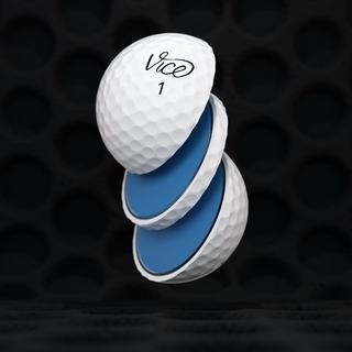 Sliced VICE Tour golf ball