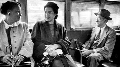 Rosa Parks riding bus
