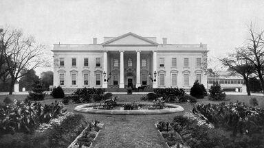 Antique American Photograph The White House Washington D.C. 1900