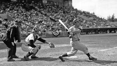 Yogi Berra of the Yankees Miami Stadium 1959